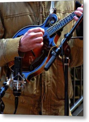 Playing Mandolin Metal Print by Dan Sproul