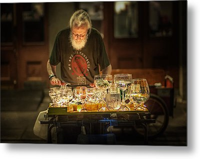 Playing The Glasses Metal Print by Brenda Bryant