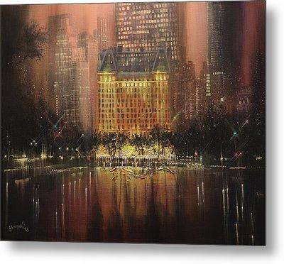 Plaza Hotel New York City Metal Print by Tom Shropshire