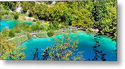 Plitvice Lakes Croatia Metal Print by Julia Fine Art And Photography