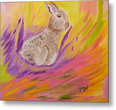 Plunge Into Your Painting Metal Print by Meryl Goudey