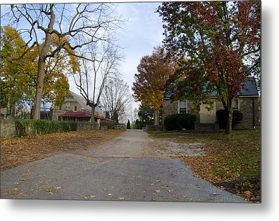 Plymouth Meeting Friends In Autumn Metal Print by Bill Cannon