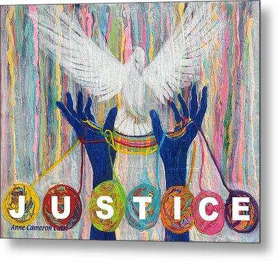 Pms 20 Justice Metal Print by Anne Cameron Cutri