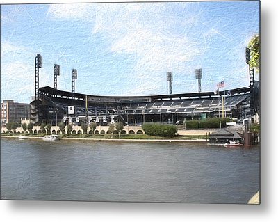 Pnc Park Painting Look Metal Print by Stephen Falavolito