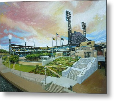 Pnc Park Pittsburgh Pirates Metal Print by Gregg Hinlicky