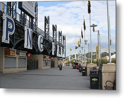 Pnc Park Riverwalk Digital Image Metal Print by Stephen Falavolito