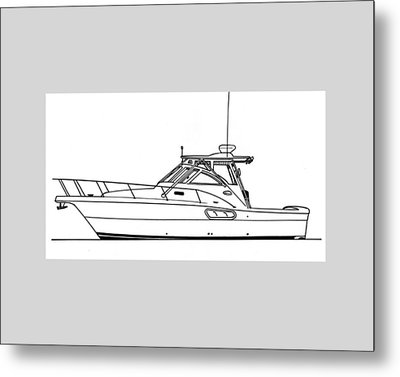 Pocket Yacht Profile Metal Print by Jack Pumphrey