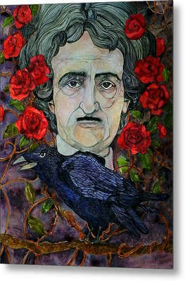 Poe Metal Print by Stacey Pilkington-Smith