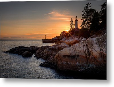 Point Atkinson Sunset Metal Print by Alexis Birkill