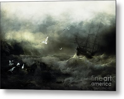 Point Danger Metal Print by Shanina Conway