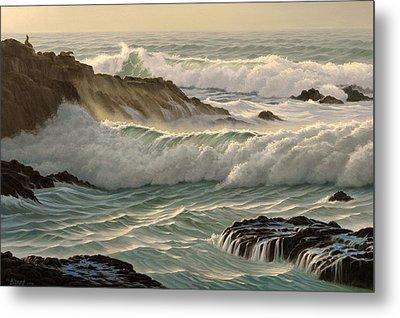 Point Lobos Seascape    Metal Print by Paul Krapf