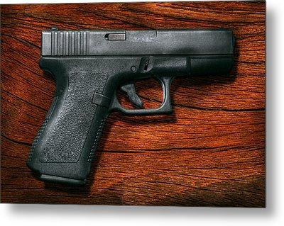 Police - Gun - The Modern Gun  Metal Print by Mike Savad