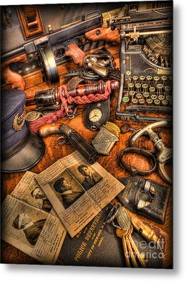 Police Officer- The Detective's Desk II Metal Print by Lee Dos Santos