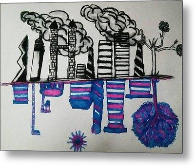 Pollution Metal Print by Ramisha Chowdhury