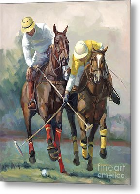 Polo Metal Print by Laurie Hein