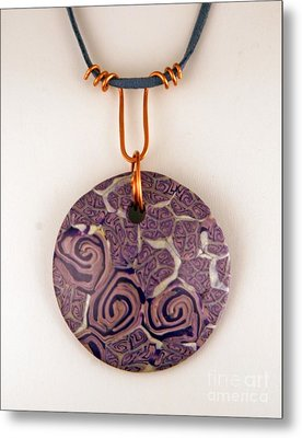 Polymer Clay Pendant Mc04211205 Metal Print by P Russell