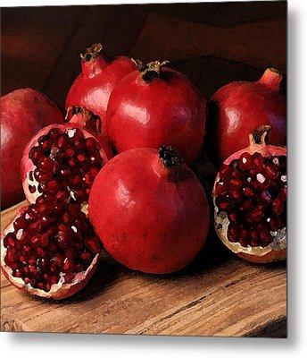 Pomegranate Metal Print by Cole Black