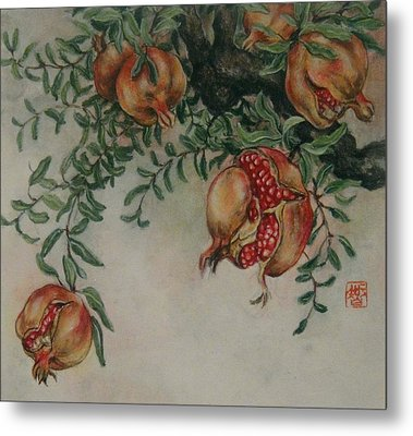 Pomegranates Metal Print by Tomoko Koyama