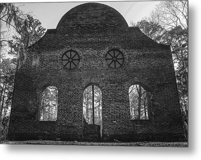 Pon Pon Chapel Of Ease 5 Bw Metal Print by Steven  Taylor
