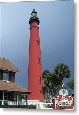 Ponce De Leon Inlet Light 3 Metal Print by Cathy Lindsey
