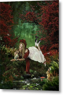 Pondering Metal Print by Cassiopeia Art