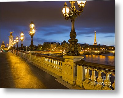 Pont Alexandre IIi Twilight Metal Print by Brian Jannsen