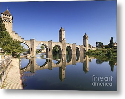 Pont Valentre Cahors France Metal Print by Colin and Linda McKie