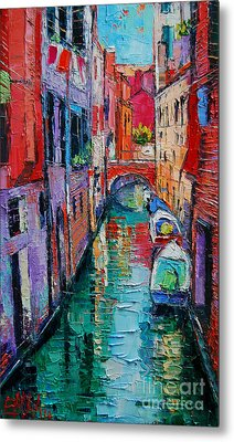 Ponte Raspi O Sansoni - Venice - Italy Metal Print by Mona Edulesco
