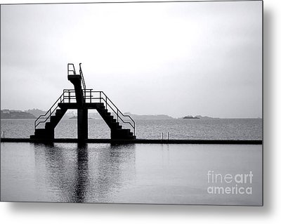 Pool By The Sea Metal Print by Olivier Le Queinec