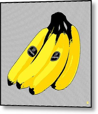 Pop Art Bananas Metal Print by Gary Grayson