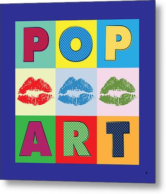 Pop Art Lips Metal Print by Gary Grayson