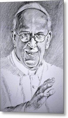 Pope Franciscus Metal Print by Henryk Gorecki