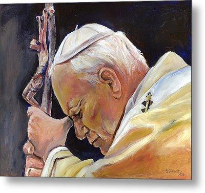 Pope John Paul II Metal Print by Sheila Diemert