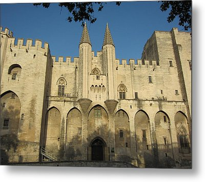 Popes Palace In Avignon Metal Print by Pema Hou