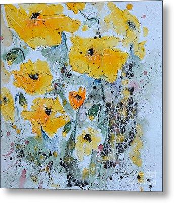 Poppies 02 Metal Print by Ismeta Gruenwald