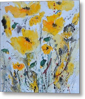 Poppies 03 Metal Print by Ismeta Gruenwald