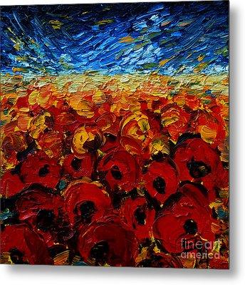 Poppies 2 Metal Print by Mona Edulesco