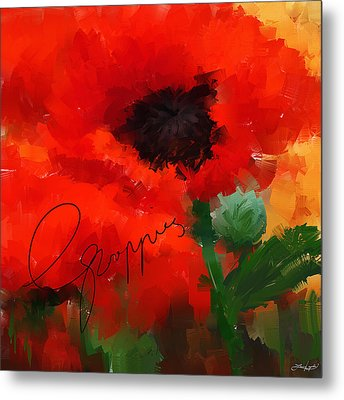 Poppies Metal Print by Lourry Legarde
