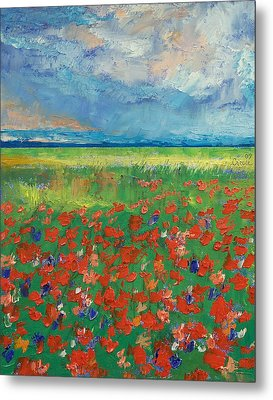 Poppy Field Metal Print by Michael Creese