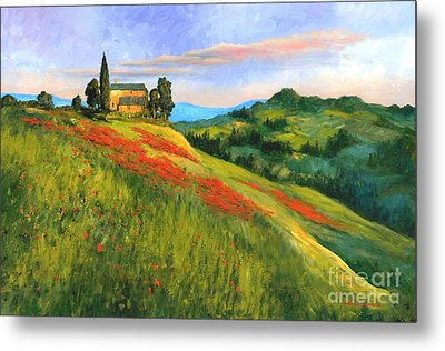 Poppy Hill Metal Print by Michael Swanson