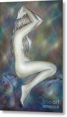 Porcelain Nude 080810 Metal Print by Selena Boron