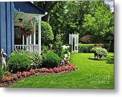 Porch And Garden Metal Print by Elena Elisseeva