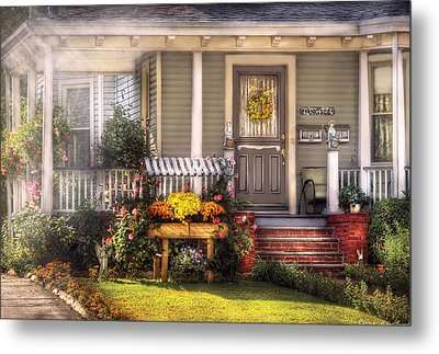 Porch - Westfield Nj - The House Of An Angel Metal Print by Mike Savad