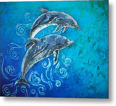 Porpoise Pair Metal Print by Sue Duda