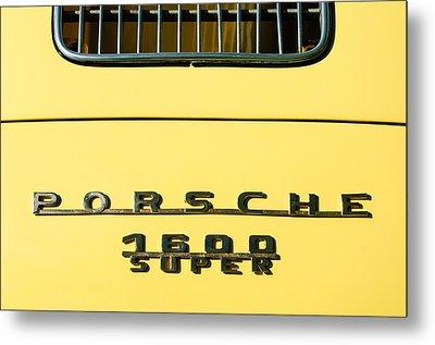 Porsche 1600 Super Rear Emblem Metal Print by Jill Reger