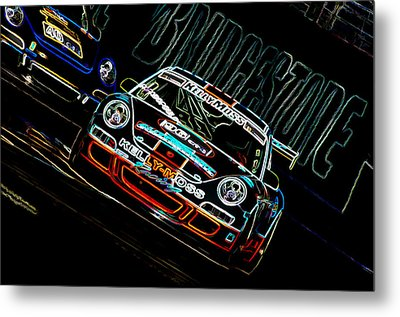 Porsche 911 Racing Metal Print by Sebastian Musial