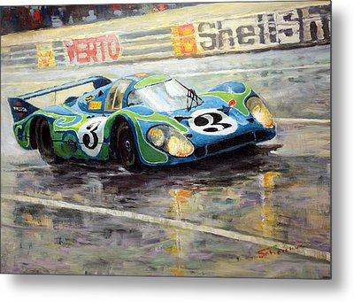 Porsche Psychedelic 917lh  1970  Le Mans 24  Metal Print by Yuriy Shevchuk