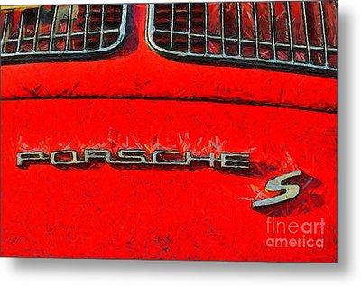 Porsche S Logo Metal Print by George Atsametakis