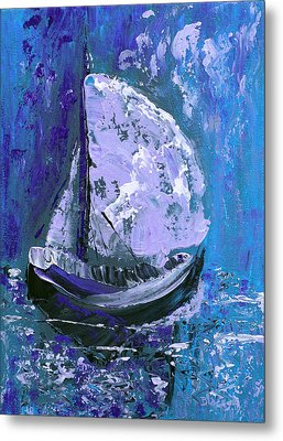 Port In The Storm Metal Print by Donna Blackhall