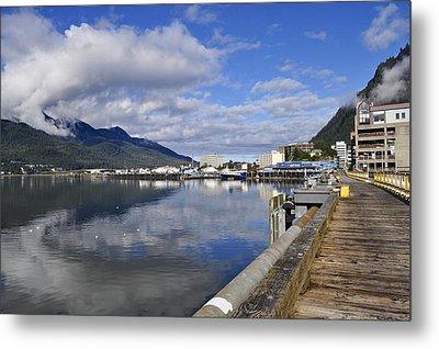 Port Of Juneau Metal Print by Cathy Mahnke